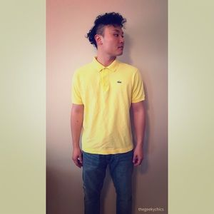 Vintage Lacoste Classic Short Sleeve Yellow Polo